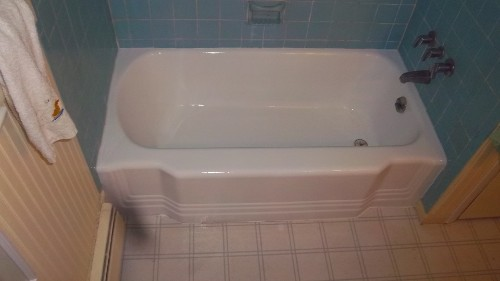 Bathtub Before, Bathtub After Refinishing